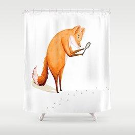 Foxy Detective Shower Curtain