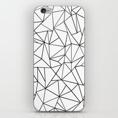 Abstract Outline Black on White iPhone Skin