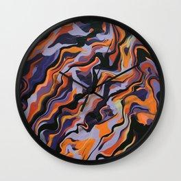 Purple Rain Wall Clock
