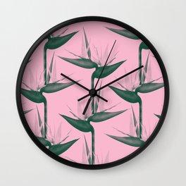 Strelitzia Alba Wall Clock
