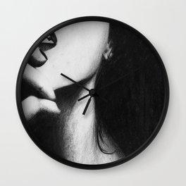 Charcoal Girl Wall Clock