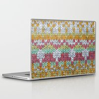 knitting Laptop & iPad Skins featuring KNITTING #3 by NADEZDA FAVA
