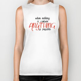 Anything is possible Biker Tank