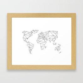 geometrical world - white Framed Art Print