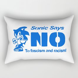 onic Says NO To Fascism and Racism! Rectangular Pillow