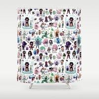 steven universe Shower Curtains featuring Cute Steven Universe Doodle by KiraKiraDoodles