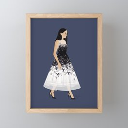 Royal Birds Dress Princess Framed Mini Art Print