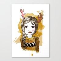hippie Canvas Prints featuring Hippie by Janreh