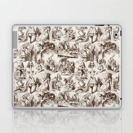 Alice in Wonderland | Toile de Jouy | Brown and Beige Laptop & iPad Skin