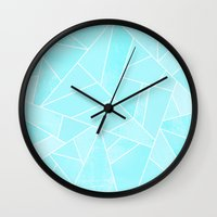 ice Wall Clocks featuring Ice by Elisabeth Fredriksson