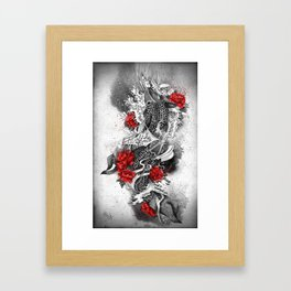 Two Kois and a river Framed Art Print