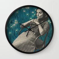 whatever Wall Clocks featuring Whatever by Imogen Art
