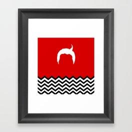 Black Lodge Dreams: Dale Cooper's Hair (Twin Peaks) Framed Art Print