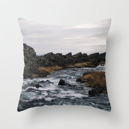 Öxarárfoss 1 Throw Pillow