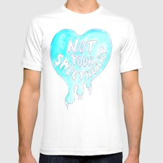 Not Your Sweetheart Mens Fitted Tee White MEDIUM