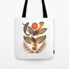 Fighting Birds Tote Bag