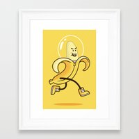 banana Framed Art Prints featuring Banana by Alby Letoy