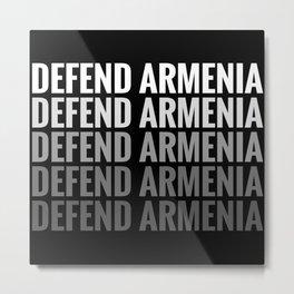 Defend Armenia - Artsakh Strong Metal Print