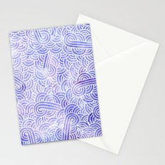 Lavender and white swirls doodles Stationery Cards