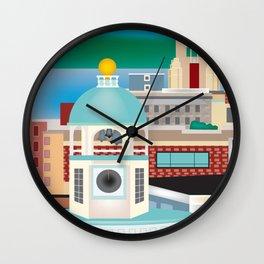 Halifax, Nova Scotia, Canada - Skyline Illustration by Loose Petals Wall Clock