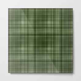 Green Tartan Pattern Metal Print