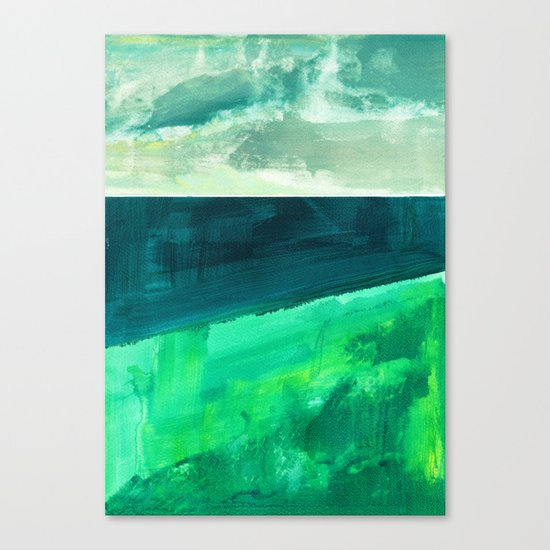 Clouds and sea Canvas Print