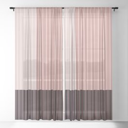 Color Block Line Abstract XI Sheer Curtain