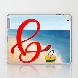 Baby B at the Beach Laptop & iPad Skin
