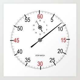 Stop Watch Face Art Print
