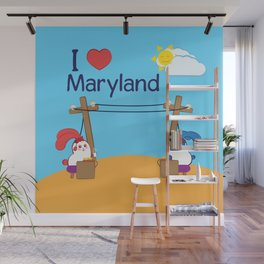 Ernest and Coraline | I love Maryland Wall Mural