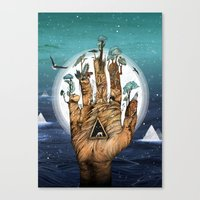 stargate Canvas Prints featuring Stargate by Sandra Dieckmann