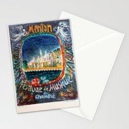 plakater Menton French Riviera Terechkovitch Musis Festival Stationery Cards
