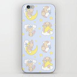 Bunny Moon Star Clouds Nursery Neutral iPhone Skin