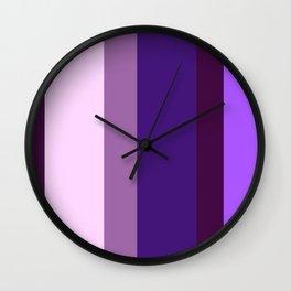 Purple (Stripes) Wall Clock
