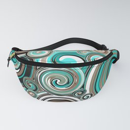 Water Whirlwind Abstract 2 Fanny Pack