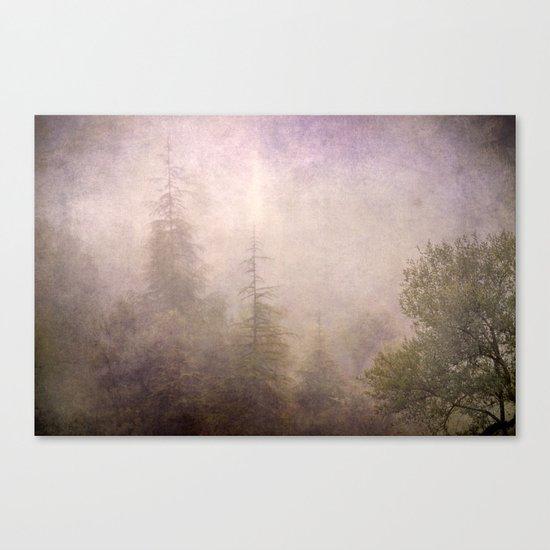 """Mistery forest. Foggy"". Retro serie Canvas Print"