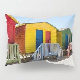 Colorful beach huts Pillow Sham