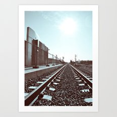 Railway scenery Art Print