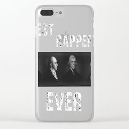 Best Rappers Ever - Hamilton (White text) Clear iPhone Case