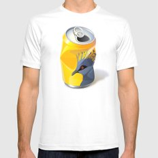 Victoria Crowned Pigeon MEDIUM Mens Fitted Tee White