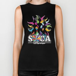 Soca Warrior design : Party Gift for Carnival Music and Wining,  Caribbean Reggae Dancehall Culture Biker Tank