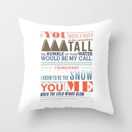 Large – All I Want Is You Throw Pillow