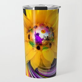 New York NYC - Statue of Liberty - sunrise Travel Mug