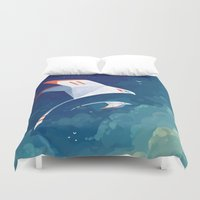 freeminds Duvet Covers featuring Flyby by Freeminds