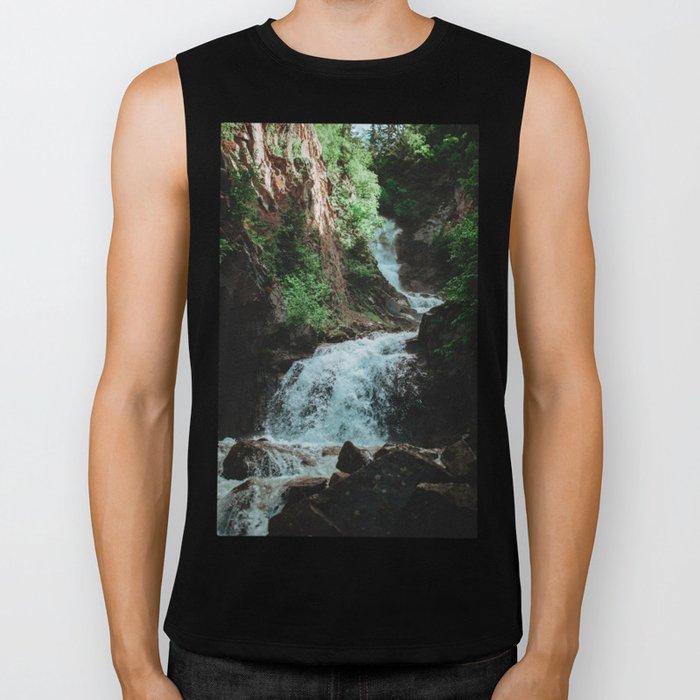 Alaska Waterfall Biker Tank