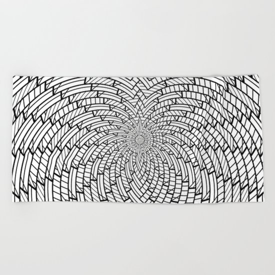 sweeping black and white 3 Beach Towel