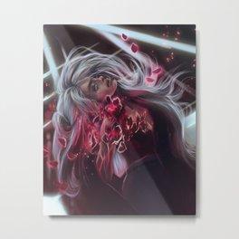 Cherry blossom girl Metal Print