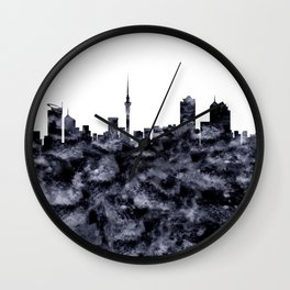 Auckland Skyline New Zealand Wall Clock