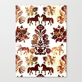 horse damask Canvas Print