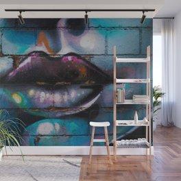 Lips Graffiti Wall Mural